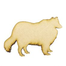 Collie Craft Blank, Dog Shape Laser Cut from 3mm MDF, Card Topper
